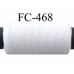 Bobine de fil mousse polyamide fil n° 110 / 2 couleur blanc Bobine de 500 mètres bobiné en France