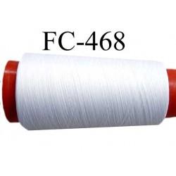 Cone de fil mousse polyamide fil n° 110 / 2 couleur blanc Cone de 2000 mètres bobiné en France