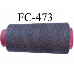 CONE de fil polyester fil n° 50 couleur anthracyte  longueur de 2000 mètres bobiné en France