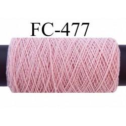 bobine de fil élastique fronceur ou à smock gomme lycra polyamide vieux rose longueur de la bobine 20 mètres diamètre 0.05 mm