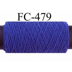 bobine de fil élastique fronceur ou à smock gomme lycra polyamide bleu longueur de la bobine 20 mètres diamètre 0.05 mm