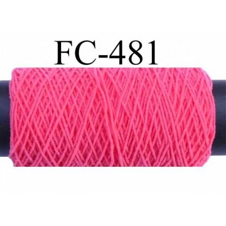 bobine de fil élastique fronceur ou à smock gomme lycra polyamide rose  longueur de la bobine 100 mètres diamètre 0.05 mm