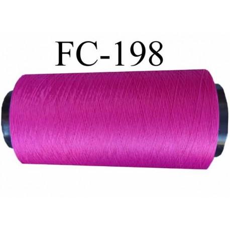 CONE de fil mousse polyamide fil n° 100 / 2 couleur  fushia   longueur de 2000 mètres bobiné en France