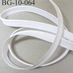 passe poil en coton couleur blanc avec cordon coton très solide largeur 9 mm prix au mètre