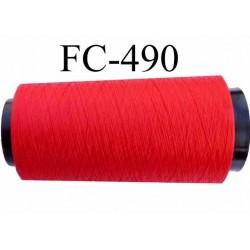 Cone de fil mousse polyamide fil n° 120 couleur rouge vif longueur du cone 2000 mètres bobiné en France