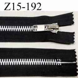 fermeture zip longueur 15 cm couleur noir non séparable largeur 4 cm glissière métal largeur 8 mm