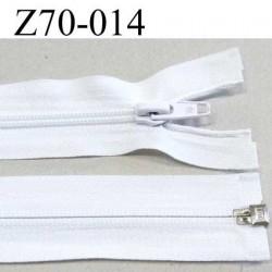 fermeture zip blanche largeur 3. cm longueur 70 cm couleur blanc séparable largeur de la glissière nylon 6 mm curseur en métal