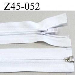 fermeture zip blanche longueur 45 cm couleur blanc séparable largeur 3.2 cm largeur de glissière spirale 6 mm curseur métal
