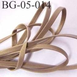 lacette galon ruban à plat  façon cuir ou simili  largeur 5 mm couleur gris beige mastic solide prix au mètre
