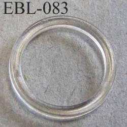 anneau plastique transparent pour soutien gorge diamètre extérieur 15 mm diamètre intérieur 12 mm prix à l'unité