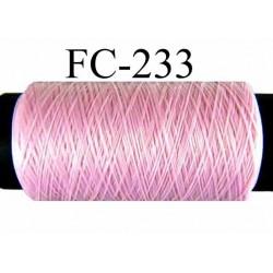 Bobine de fil mousse texturé polyester fil n°120 couleur rose bonbon longueur 200 mètres bobiné en France