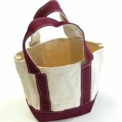 petit sac cabas en coton très solide  superbe à broder ou pas  couleur écru et bordeau