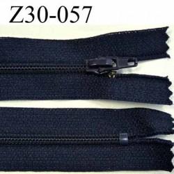 fermeture zip à glissière longueur 30 cm couleur bleu marine zip nylon non séparable largeur de glissière 4 mm