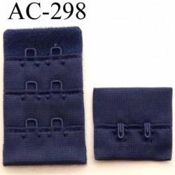 attache rallonge extension de soutien gorge 2 crochets largeur 30 mm couleur bleu
