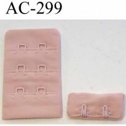 attache rallonge extension de soutien gorge 2 crochets largeur 30 mm couleur vieux rose