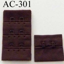 attache rallonge extension de soutien gorge 2 crochets largeur 30 mm couleur marron chocolat