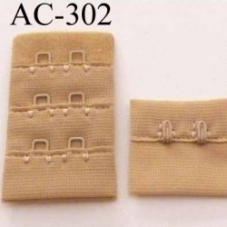 attache rallonge extension de soutien gorge 2 crochets largeur 30 mm couleur chair beige