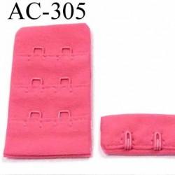 attache rallonge extension de soutien gorge 2 crochets largeur 30 mm couleur rose tirant sur le rose malabar