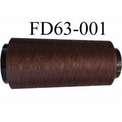 ( Déstockage ) Cone de fil mousse polyamide fil n° 100 couleur marron longueur du cone 2000 mètres bobiné en France