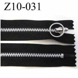 fermeture zip à glissière longueur 10 cm couleur noir non séparable largeur 2.9 cm glissière métal largeur du zip 4.5 mm