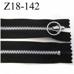 fermeture zip à glissière longueur 18 cm couleur noir non séparable largeur 2.9 cm glissière métal largeur du zip 4.5 mm