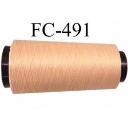 CONE de fil mousse polyamide fil n° 100 / 2 couleur perle rosé   longueur de 5000 mètres bobiné en France