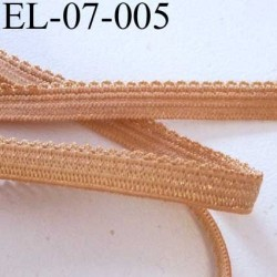 élastique picot plat boucles dentelle couleur chair  largeur 7 mm prix au mètre