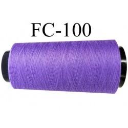 Cone de fil n° 120 polyester couleur lavande lilas violine longueur 5000 mètres bobiné en France