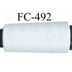 Cone de fil mousse polyester texturé fil n° 160 couleur naturel longueur du cone 2000 mètres bobiné en France