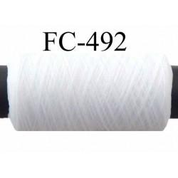 Bobine de fil mousse polyester texturé fil n° 160 couleur naturel longueur 500 mètres bobiné en France