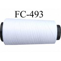 cone de fil polyester fil n°80 couleur blanc longueur du cone 2000 mètres bobiné en France