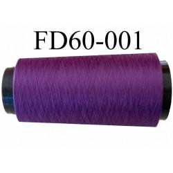 Déstockage Cone de fil mousse  polyester texturé fil n° 165 couleur violet longueur 2000 mètres bobiné en France