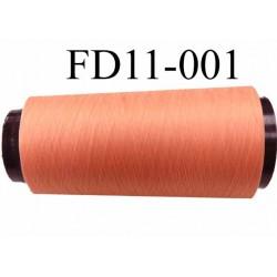 Déstockage Cone de fil mousse  polyester texturé fil n° 165 couleur saumon longueur 2000 mètres bobiné en France