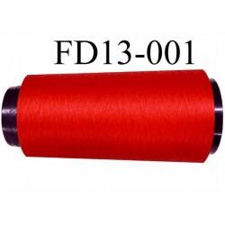 Déstockage Cone de fil mousse  polyester texturé fil n° 165 couleur rouge lumineux longueur 2000 mètres bobiné en France