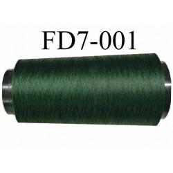Déstockage Cone de fil mousse  polyester texturé fil n° 165 couleur vert bouteille longueur 2000 mètres bobiné en France
