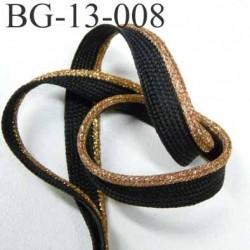 passe poil couleur noir et doré or et laiton superbe largeur 13 mm avec lien synthétique très solide prix du mètre