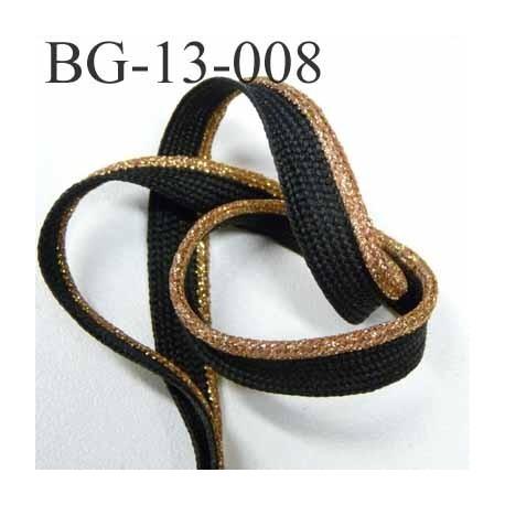 passe poil couleur noir et doré or laiton superbe largeur 13 mm avec lien synthétique très solide prix du mètre