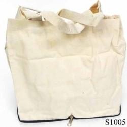 Sac cabas en véritable coton naturel 100 %  superbe à broder ou à coudre  couleur écru souple et doux