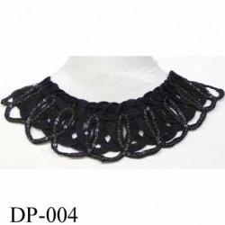 Devant  col encolure Superbe hauteur 7 cm largeur 30 cm avec chainette couleur noir