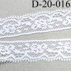 dentelle synthétique largeur 20 mm couleur blanc couleur blanc prix au mètre