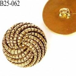 bouton 25 mm pvc  couleur or vieilli doré et noir  diamètre 25 millimètres épaisseur 8 mm plus anneau 4 mm