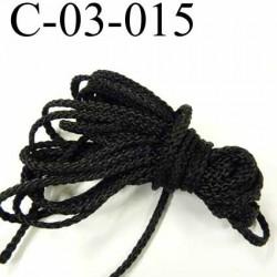 cordon synthétique polypropylène très très solide couleur noir diamètre 3 mm  prix au mètre