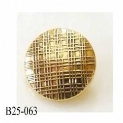 Bouton pvc diamètre 25 mm couleur or  doré accroche avec un anneau