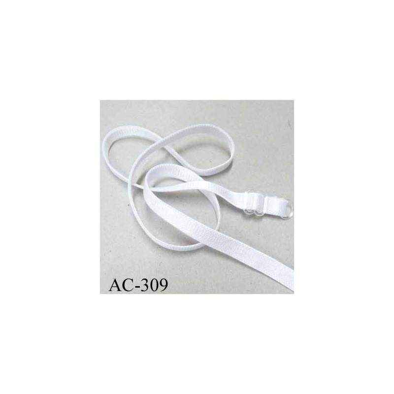 professionnel de premier plan sortie en vente renommée mondiale bretelle réglable de soutien gorge longueur 48 cm largeur 8 mm blanc  brillant prix à l'unité boucle anneau transparent - mercerie-extra