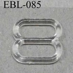 boucle de réglage réglette plastique transparent pour soutien gorge largeur totale11 mm largeur intérieur 8 mm prix à l'unité
