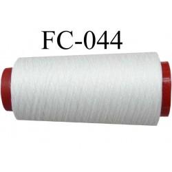 bobine de fil coton  couleur blanc longueur 200 mètres largeur de la bobine 5.5 cm diamètre 2.7 cm