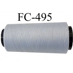 Cone  de fil mousse polyamide fil n° 110 / 2 couleur gris souris longueur 5000 mètres   bobiné en France