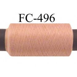 Bobine  de 500 mètres de fil mousse polyamide fil n° 110 / 2 couleur chair bois rosé   bobiné en France