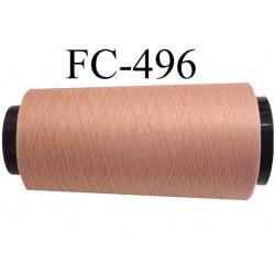Cone  de fil mousse polyamide fil n° 110 / 2 couleur chair bois rosé longueur 2000 mètres  bobiné en France