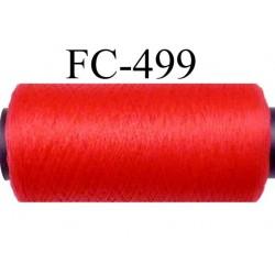 Bobine  de 500 mètres de fil mousse polyamide fil n° 110 / 2 couleur rouge tirant légèrement sur le corail  bobiné en France